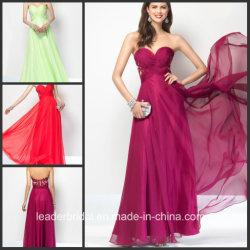 Милая Prom-участник Gowns шифон кружево вечерние платья A35828