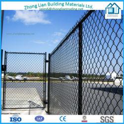 Commerce de gros chaud galvanisé recouvert de PVC utilisé la clôture de maillon de chaîne