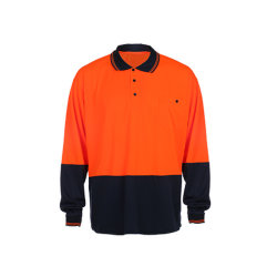 High Visibility Long Sleeve Construction Reflective Safety Polo T-shirt voor buiten