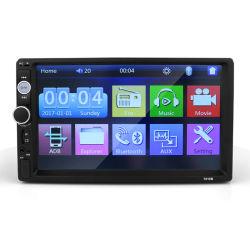 7-дюймовый сенсорный экран TFT HD автомобильная стерео Bluetooth MP5-плеер с FM-радио USB / TF Вход Aux цвет