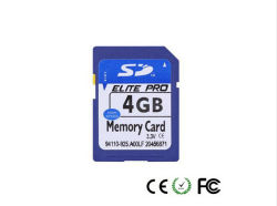 Commerce de gros 4GO PC/de la caméra Carte SD (classe 6)