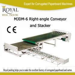 波形のボール紙(MJDM-6)のための高品質の直角のコンベヤーそしてスタッカー