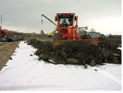 Filtración Geotextile tejida de drenaje de la separación de la estabilización del suelo