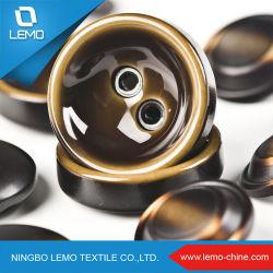 Personalizado de alta calidad 3 capas de resina de Botones cubiertos camiseta