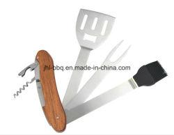 1つのステンレス鋼BBQの工具セットの6