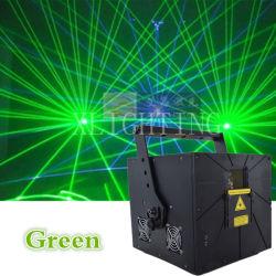ディスコのための緑8000MWアニメーションのレーザー光線ショー