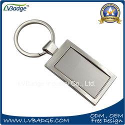 Rectangle de souvenirs de promotion de la forme de chaîne de clé en métal pour la publicité