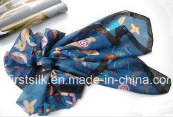 De nieuwe Digitale Sjaal van de Zijde van Af:drukken, de Sjaal van de Keperstof van de Zijde. De Sjaals van de zijde