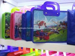 Kundenspezifischer Kind-Kind-Schule-freier Raum PVC-Handgriff-Beutel