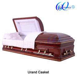 Funérailles hautement qualifiés en bois imperméable/bois/funérailles/incinération/placage/peuplier/le chêne rouge/Cherry/acajou/chinois/cendres Coffin