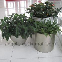 Meilleure qualité de la surface des balais polonais Garden Park Shopping Centre Pot du semoir en acier inoxydable
