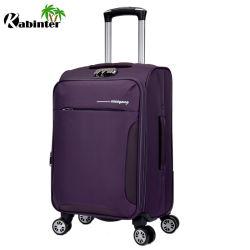 La moda de cuatro ruedas de nylon suave Trolley maletas Maleta de Viaje