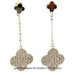 Хорошего четырех листьев клевера Cute серьги для девочек Дизайнер моды женщин 925 серебристые украшения E6377