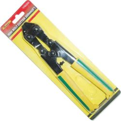 手はワイヤーカッターの専門のボルト小型カッターのベンチのタイプに用具を使う