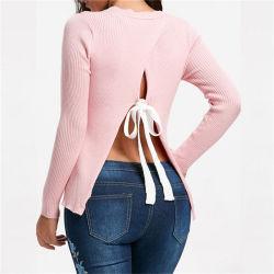 Parte posteriore del maglione del Knit di nuovo modo di arrivo delle donne allentate sexy di autunno aperta