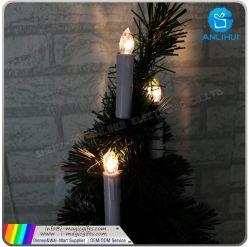 Telecomando di vendita caldo della candela senza fiamma della decorazione dell'albero di X'mas