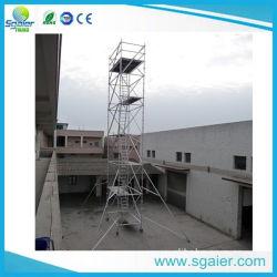 L'échafaudage en aluminium polyvalent de la hausse des châssis de la tour d'échafaudages mobiles