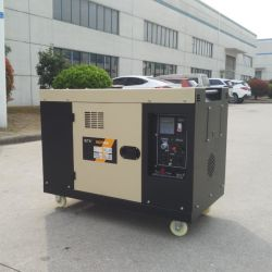 8 квт с водяным охлаждением воздуха одного цилиндра Silent портативный звуконепроницаемых дизельного генератора