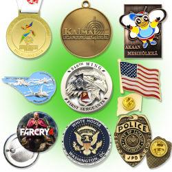 2016 Logo Pormotion Sport Jeu en bronze de vêtements personnalisés Épinglette/badge personnalisé