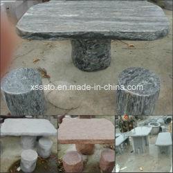 Vert Noir Gris Rouge Tables et bancs de granit pour la vente