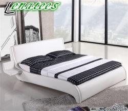 Ck002 Taille double lit en cuir avec Smal bacs