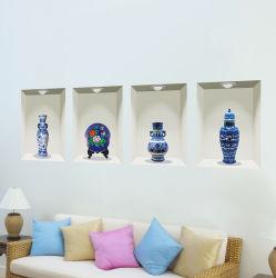Eco-Friendly PVC 3D 중국 사기그릇 벽 스티커 홈 훈장