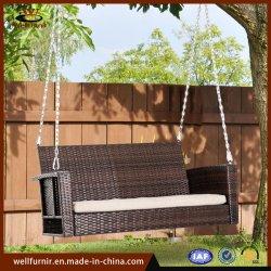 昇進の余暇の庭のホテルの屋外のテラスの藤及び柳細工の振動椅子