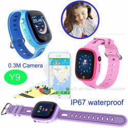 IP67は新しいデザイン子供防水GPSの追跡者の腕時計Y9を防水する