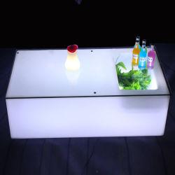 Discoteca utilizar varios colores cambiar muebles LED iluminado, Mesa de Bar con enfriador de vino