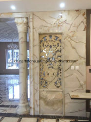 Onxy Corrimão em mármore branco chinês/ Pilar para Villa Decoration