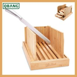 Bamboo Bread Slicer Cutting Guide Bread Cutter For Kitchen Loaf Cake With Crumbs Tray Storage Box