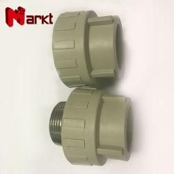 Maschio dell'accessorio per tubi di alta qualità PPR/accessori per tubi filettati femmina del sindacato