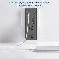 2 USB Charger+1のタイプCの充電器が付いている2つのアウトレットのサージ・プロテクターの壁の蛇口