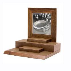 Großverkauf passt hölzerne Acryl PU-Leder-Uhr-Schmucksache-Schrank-Bildschirmanzeige an
