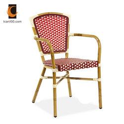 Anti desbotamento de alumínio para exterior com jardim comercial a mobília do pátio de vime Cadeira de vime de bambu
