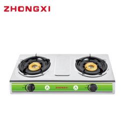 أرخص سعر 2 Burner Gas Stove أدوات المطبخ من الفولاذ المقاوم للصدأ
