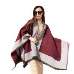 Color Design de Moda de impacto Senhoras Tecidos Jacquard de acrílico Xale Cachecol