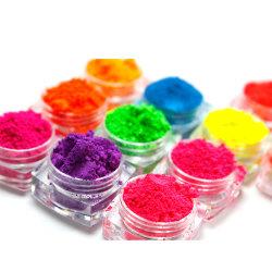 Los pigmentos en polvo de neón fluorescente, fluorescente, fabricante de pigmento cosmético