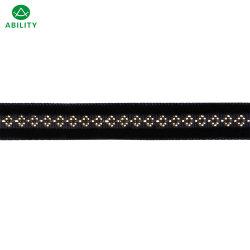 El poliéster metálico Nacional Popular de la cinta de terciopelo cintas para las prendas de vestir