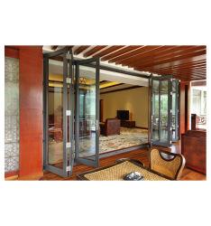 Heiße verkaufende äußerer Akkordeon-thermischer Bruch-Aluminiumglasfalz-Tür