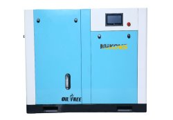 金属の工場160 Cfmの空気圧縮機販売法の井戸オイルの自由な酸素のCylindの盛り土の圧縮機水給油オイル自由な単一ねじ空気圧縮機