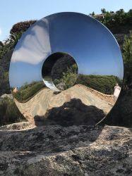 Edelstahl-Garten-Auszugs-Spiegel-Ende-Polierskulptur
