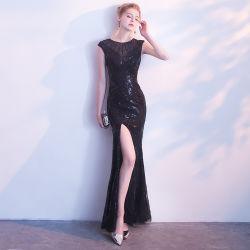 2019 personalizado dividir elegante noite Beca Fashion Mulheres Partido Prom vestido de Noite