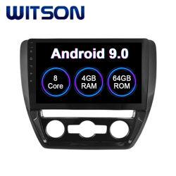 Android Market 9.0 Carro de rádio para 2012-2014 VW Jetta Air-Conditioner Sagitar/Manual Versão 4 GB de RAM 64GB