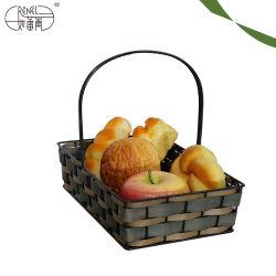 Venda por grosso de madeira portátil Renel Eco-Friendly cesto de piquenique para Armazenamento