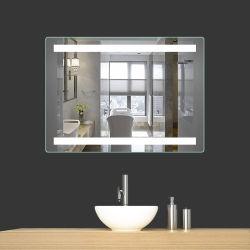 Hotel salle de bains 3000-5000K miroir rétroéclairé par LED de lumière avec gradateur capteur tactile