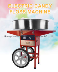 Cart Cotton Candy Machine이 장착된 Commercial Electric Candy FLOSS Machine