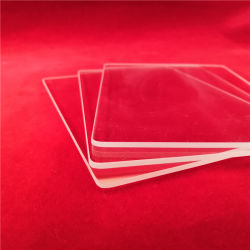 제조업체 핫 셀 투명 난방 저항 사각의 아크 측면 쿼츠 유리판 공급업체