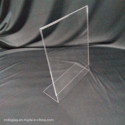 Freier Plastikacrylzeichen-Halter für 8.5X11 bewegt Foto-Bildschirmanzeige Schritt für Schritt fort
