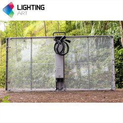貫通メッシュ P3.91-7.82 LED 窓ガラス透明 LED ディスプレイ